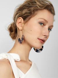 Trendy Ovale Oorbellen / Oorringen Paars