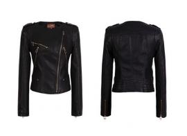 PU leren Jacket Zwart