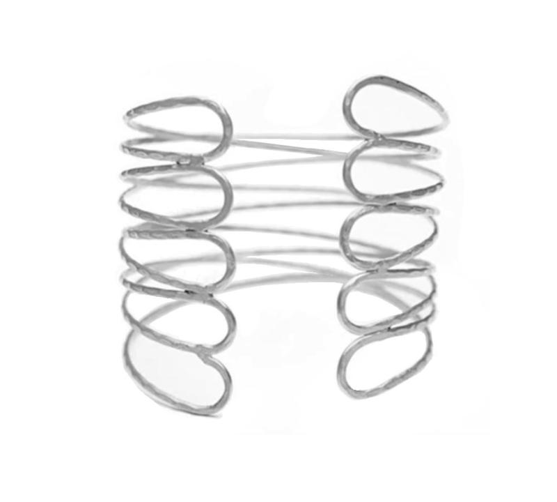 Eenvoudige Sierlijke Bovenarmband Zilverkleurig