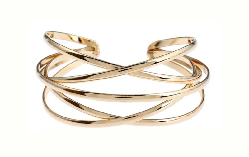 Sierlijk Gekruiste Goudkleurige Armband