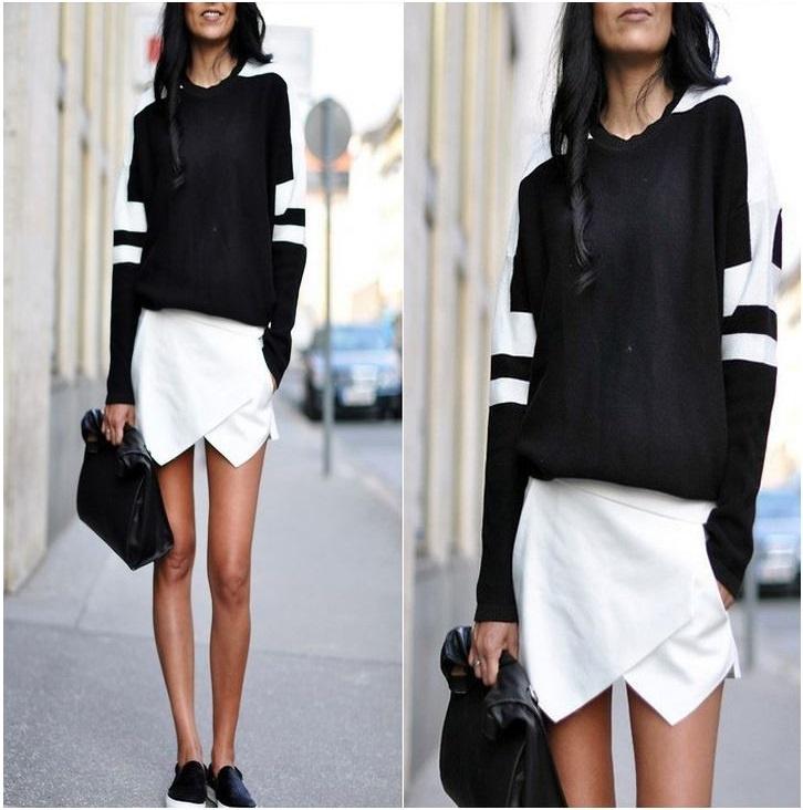 Witte of zwarte skort