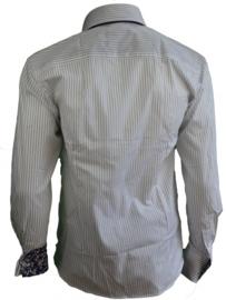 Arya Boy Overhemd- White, gestreept maat L