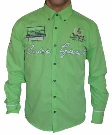 Overhemd Arya boy green geborduurd