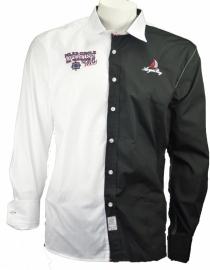 Arya Boy Overhemd- Black/ White, geborduurd maat XL