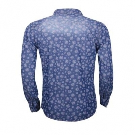 Overhemd Wam Denim stone-washing effect