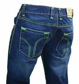 Jeans Pascucci groene stiksels