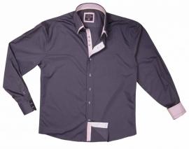 Overhemd Arya boy anthracite-Pink