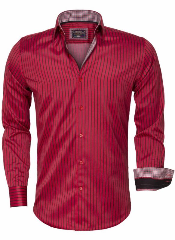 Overhemd Rood gestreept
