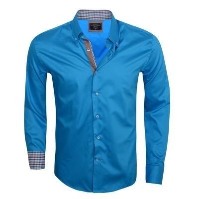 Overhemd WamDenim Turqoise