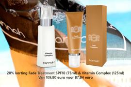 20% korting Fade Treatment (75ml) & Vitamin Complex (125ml)