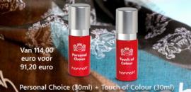 20 % korting hannah Personal Choice (30ml), hannah Touch of Colour (30ml)