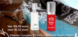 20 % korting hannah Brilliant touch (30ml), hannah Vitamin Complex (125ml)