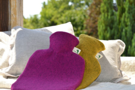 Warmwaterkruik viltlook paars Hugo Frosch
