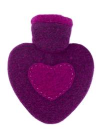 Warmwaterkruik Hartje roze/raspberry 1L Hugo Frosch