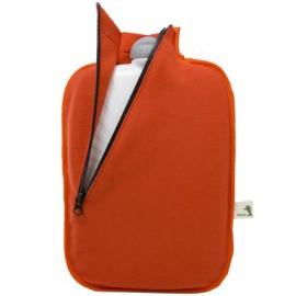 Warmwaterkruik softshell oranje Hugo Frosch