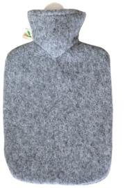 Warmwaterkruik viltlook grijs Hugo Frosch