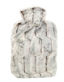 Warmwaterkruik fluffy bruin Hugo Frosch