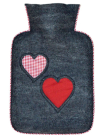 Warmwaterkruik hearts merinowol 1,8L Hugo Frosch