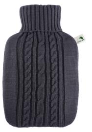 Warmwaterkruik Knitted grijs Hugo Frosch