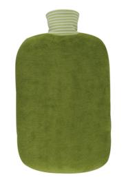 Warmwaterkruik in biokatoen groen 2L Hugo Frosch