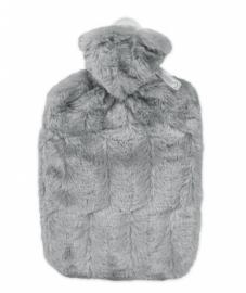 Warmwaterkruik fluffy grijs Hugo Frosch