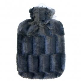 Warmwaterkruik fluffy zwart Hugo Frosch