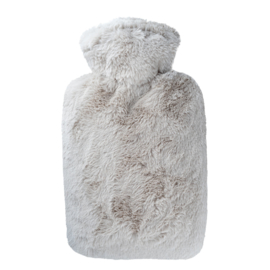 Warmwaterkruik fluffy taupe Hugo Frosch