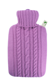 Warmwaterkruik Knitted roze Hugo Frosch