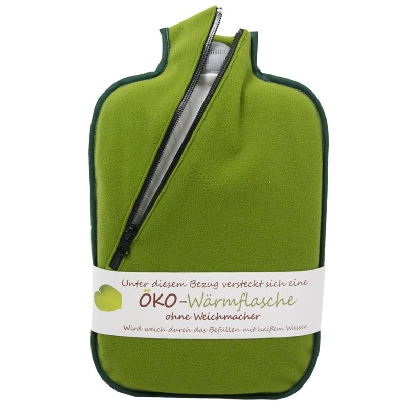 Warmwaterkruik softshell groen Hugo Frosch