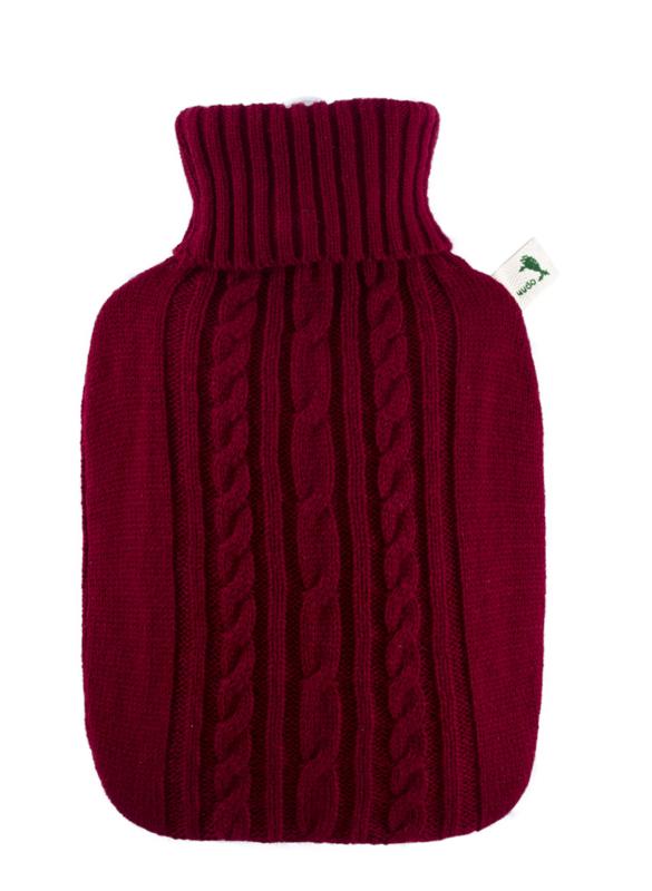 Warmwaterkruik Knitted rood Hugo Frosch