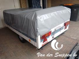 Grijs PVC zeildoek 650gr/m2 - rolbreedte 2,5m