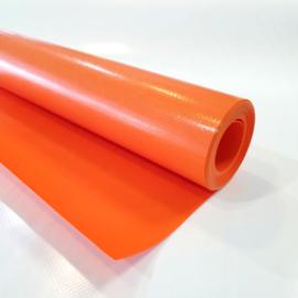 Oranje PVC zeil op rol