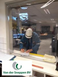 Afschermzeil - Transparant zeil op rol per meter