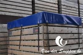 Blauw PVC zeildoek 650gr/m2 - rolbreedte 2,5m