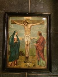 religieuze oude prent kruisiging