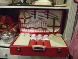 unieke picknickkoffer rood