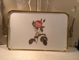 dienblad met roos