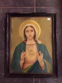 religieuze oude prent Maria