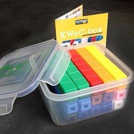 90 Unifix Cubes in KWeC-box