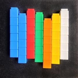 Set blokjes voor taal - 42 unifixblokjes