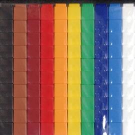 100 Unifix Cubes per kleur naar keuze