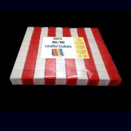 100 Unifix Cubes 50/50
