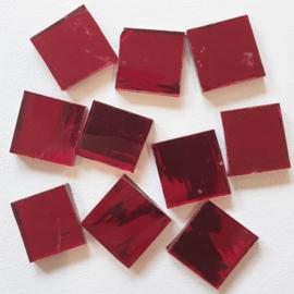 Spiegelglas rood handgesneden