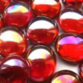 Rood kristal parelmoer