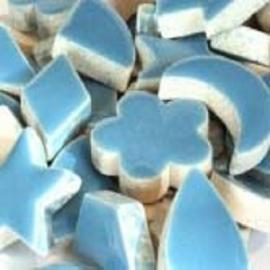 Geglazuurd keramiek dusty blue