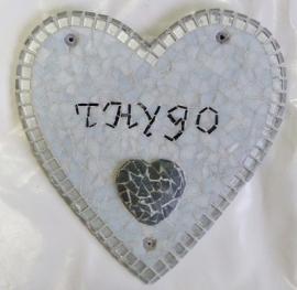 Naambordje hart met 3D aspect