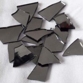 Spiegelglas gunmetal handgeknipt
