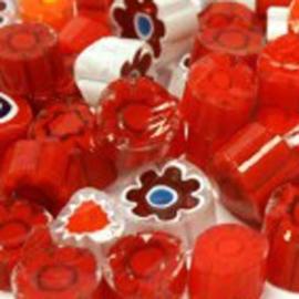 Millefiori mix rood