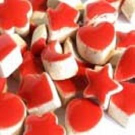 Mini geglazuurd keramiek rood