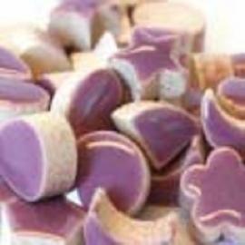 Mini geglazuurd keramiek purple